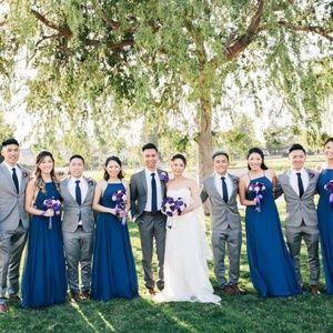 Lulu's Dresses - Navy Blue Maxi Bridesmaid Dress